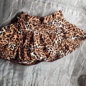Animal Print Skirt 12 Month Baby Girl Brown White
